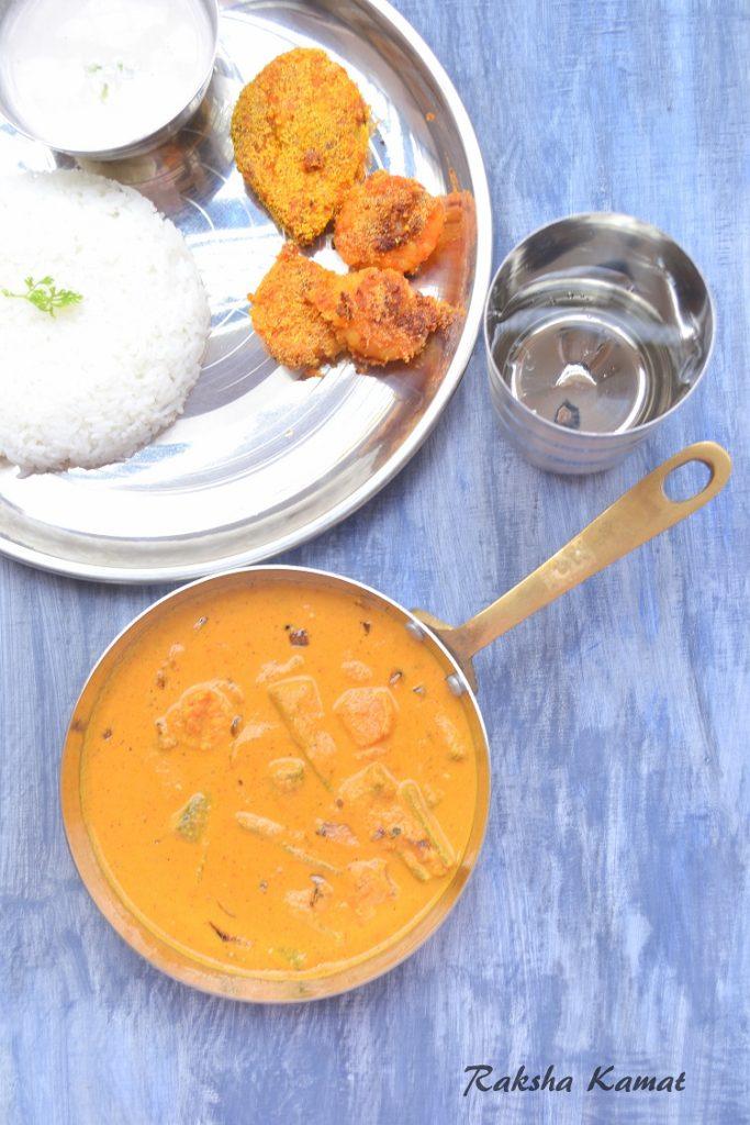 Goan prawn curry with bhindi