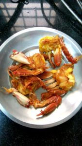 butter garlic crabs, crabs recipe