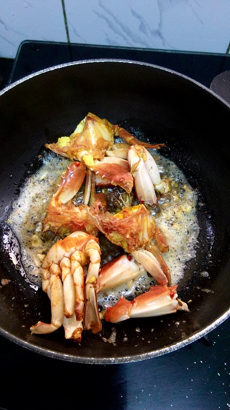 butter garlic crabs,crabs recipe