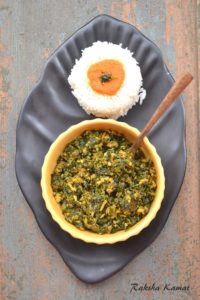 Methi Bhaji , Methi subzi, fenugreek leaves stir fry