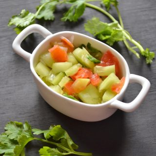 Cucumber salad, healthy salad made with cucumber