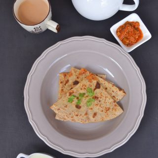 Paneer Paratha, paratha stuffed with paneer, Paneer recipe, Indian cottage cheese paratha recipe