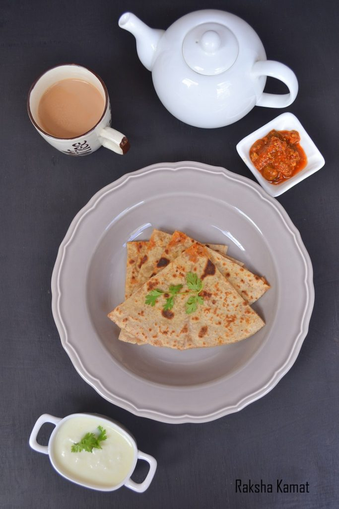 Paneer Paratha, paratha stuffed with paneer, Paneer recipe, Indian cottage cheese paratha recipe