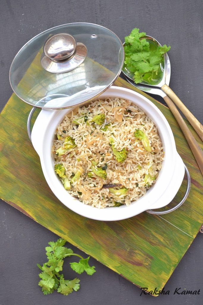 Broccoli Rice, kids lunch box recipe, broccoli recipe, lunch box recipe