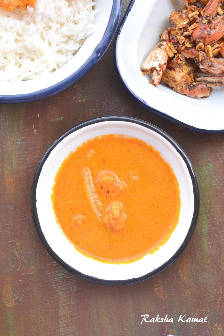 Goan prawns curry with radish, Goan prawns curry, prawns curry, prawn recipe, shrimp recipe, shrimp curry, Goan recipe