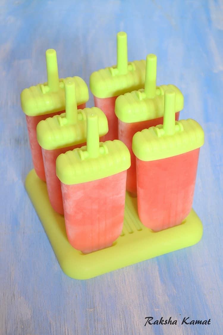 Watermelon Popsicle, Watermelon recipe, Watermelon pops
