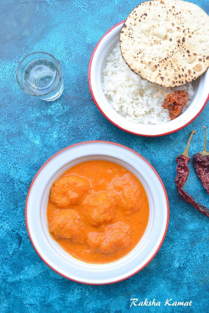 Goan pulpy ripe mango curry