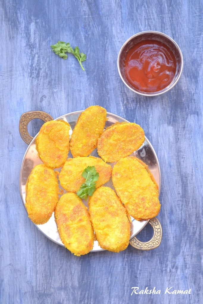 Shallow Fried Semolina Coated Potato , Rava Fried Potato, fried potato, shallow fried potato, rava fried recipe, vegan potato recipe, easy potato recipe, crispy fried potato,