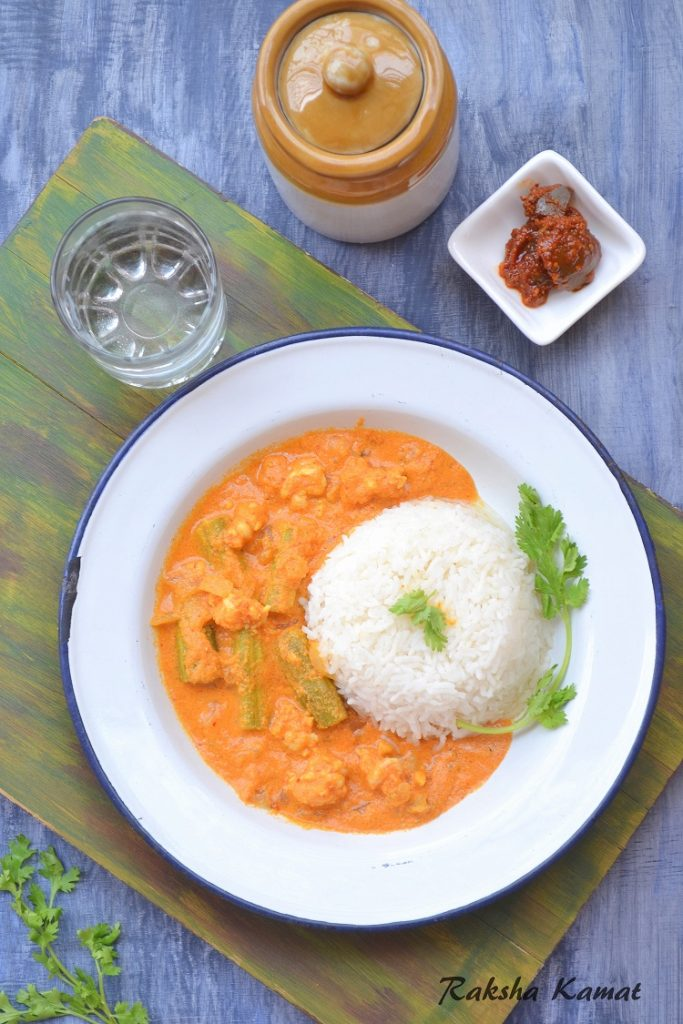 Goan prawns curry with drumsticks, Goan prawns curry, drumstick and prawns recipe