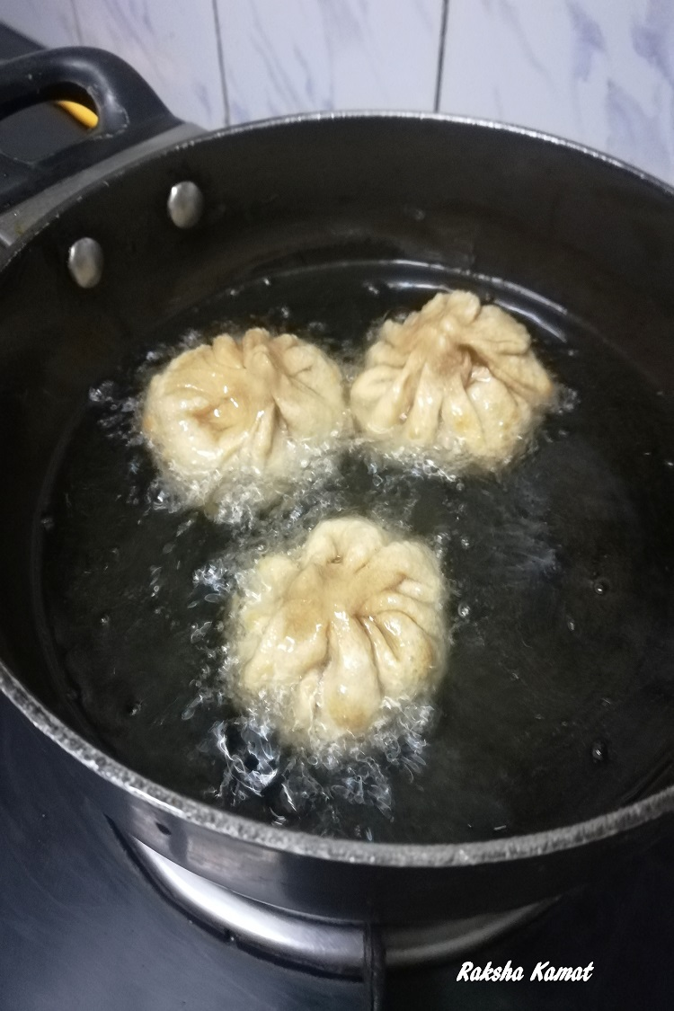 Deep fried modak step by step pics