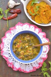 moringa dal, drumstick leaves dal, lentils and moringa curry, lentils and moringa, moringa and lentil soup, moringa curry, moringa recipe