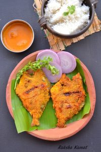 white pomfret fry, pomfret fried