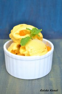 Mango ice cream, ice cream with mango, mango recipe, summer recipe, how to make mango ice cream