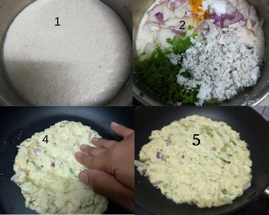 Rava Onion Bhakri step by step