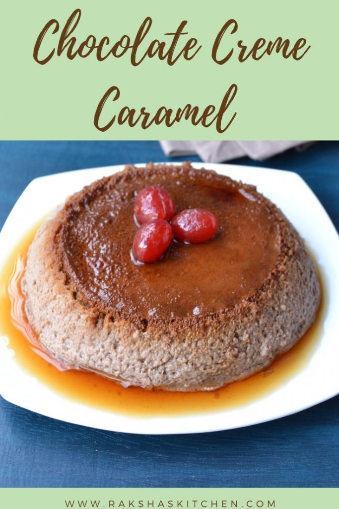 Chocolate creme caramel pudding