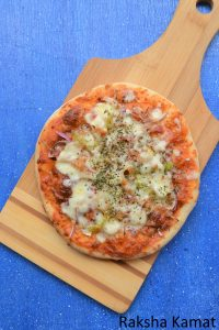 Homemade veg pizza from scratch
