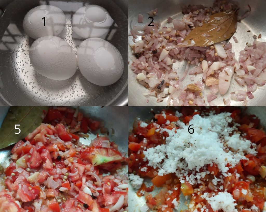 Steps to make egg curry image