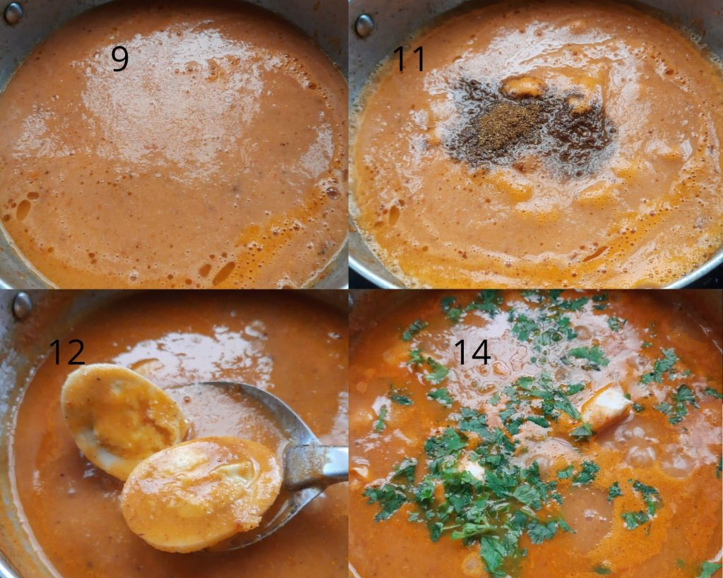 Steps to make egg curry image part 2