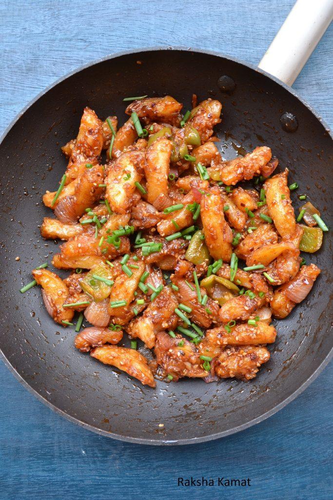 Honey chili potato recipe