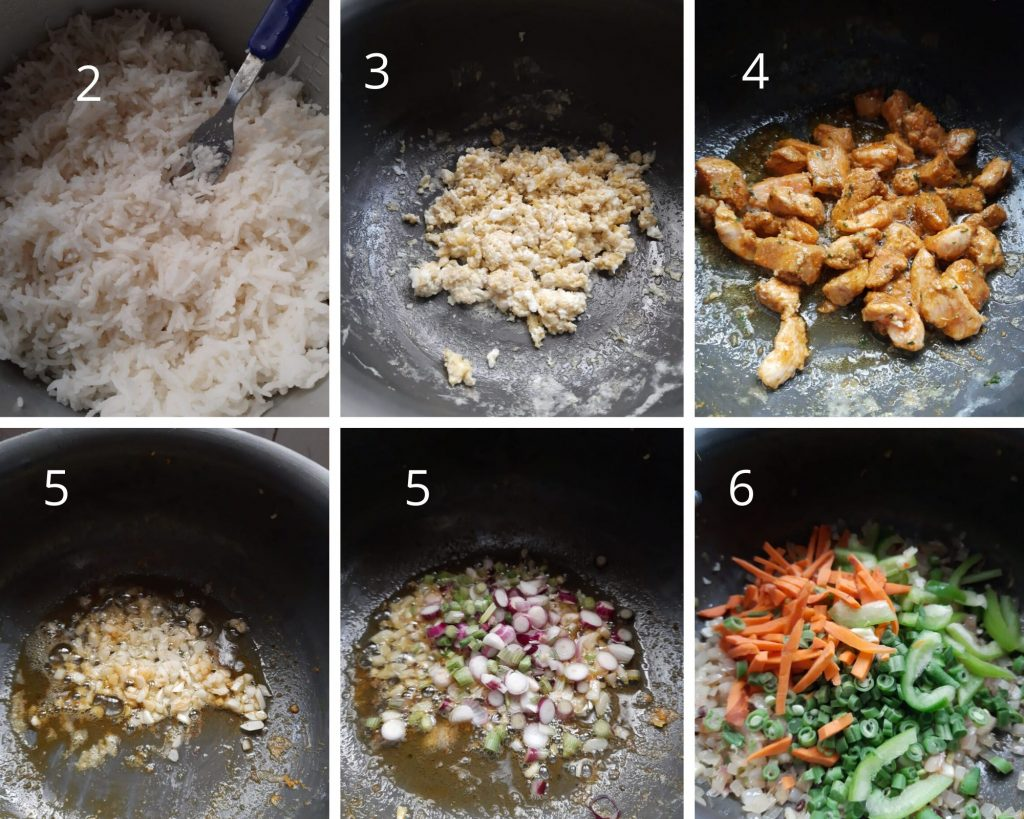 Steps to make Chinese chicken rice