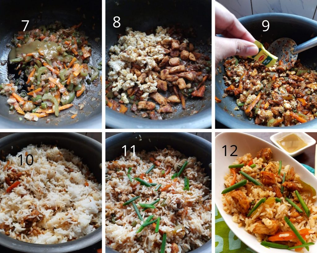 Steps to make Indo-Chinese rice