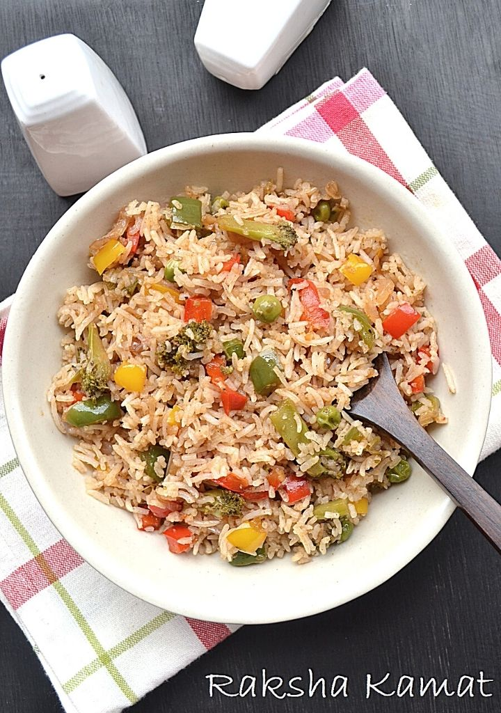 Bell Pepper Broccoli Fried Rice Image
