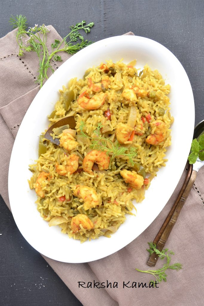 Goan prawn pulao with coconut milk