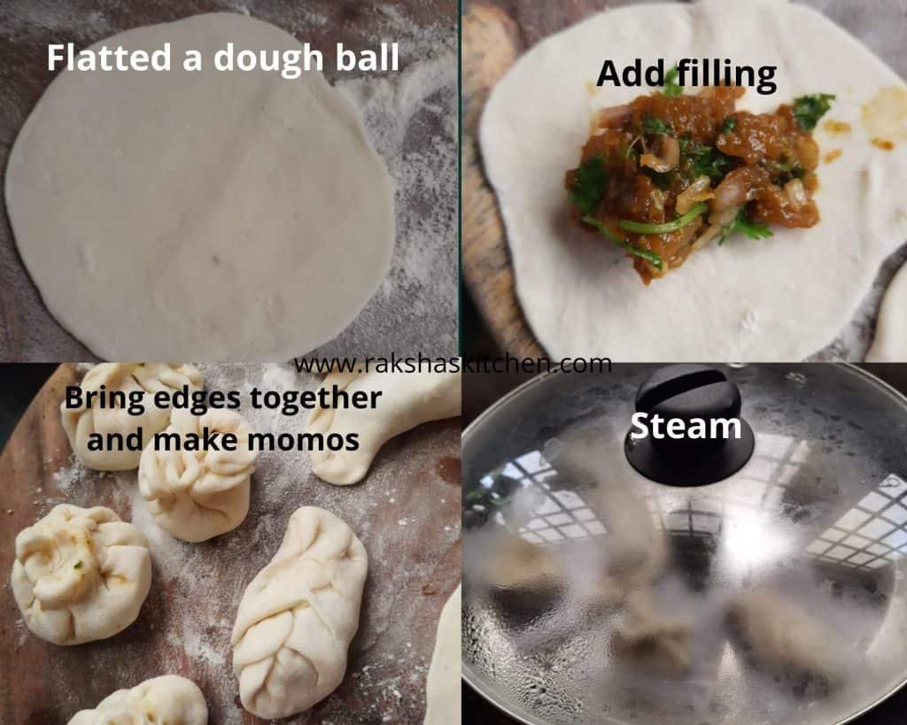 Steps to make chicken momos