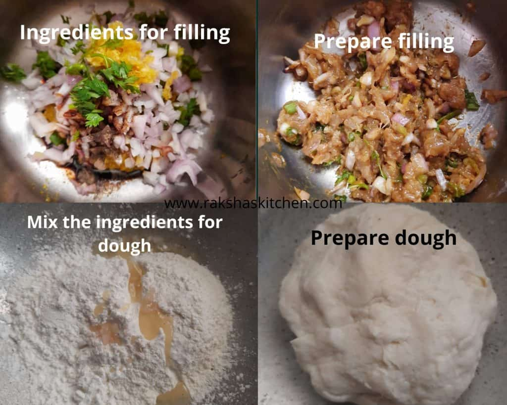 Steps to make momo chicken recipe