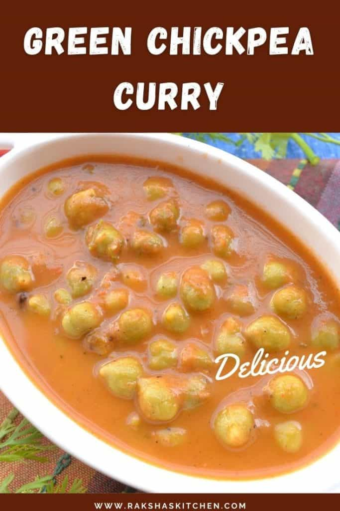 Green chickpeas curry recipe
